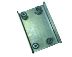 Adjustbale guiding plate with four nylon rolls for gates