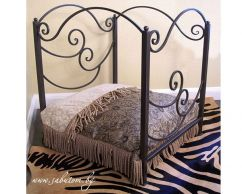 Metal bed of wrought iron