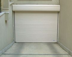 White roller door with insulation