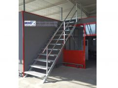 Metal hot dip galvanized staircase with railing