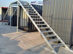 Metal hot dip galvanized staircase