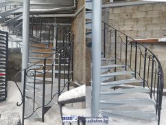 Round metal staircase